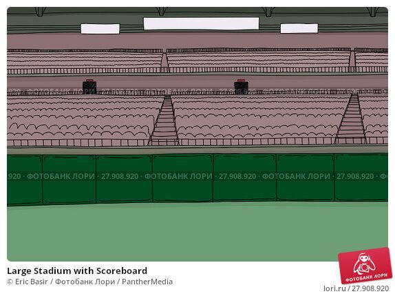 Купить «Large Stadium with Scoreboard», фото № 27908920, снято 12 декабря 2018 г. (c) PantherMedia / Фотобанк Лори