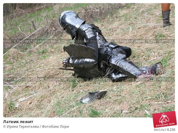 Купить «Латник лежит», эксклюзивное фото № 4236, снято 8 мая 2006 г. (c) Ирина Терентьева / Фотобанк Лори