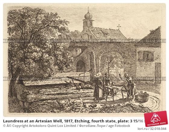 Купить «Laundress at an Artesian Well, 1817, Etching, fourth state, plate: 3 15/16 x 5 5/8 in. , Prints, Johann Christoph Erhard (German, Nuremberg 1795–1822 Rome)», фото № 32018044, снято 22 апреля 2017 г. (c) age Fotostock / Фотобанк Лори