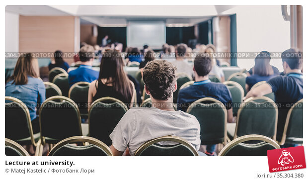 Lecture at university. Стоковое фото, фотограф Matej Kastelic / Фотобанк Лори