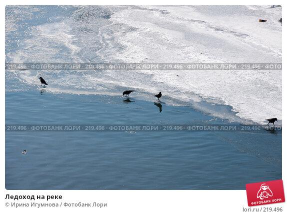 Ледоход на реке, фото № 219496, снято 9 марта 2008 г. (c) Ирина Игумнова / Фотобанк Лори