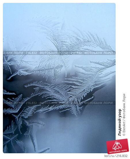Ледяной узор, фото № 216832, снято 25 января 2017 г. (c) ElenArt / Фотобанк Лори