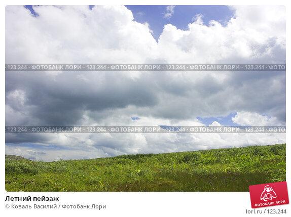 Летний пейзаж, фото № 123244, снято 21 октября 2016 г. (c) Коваль Василий / Фотобанк Лори