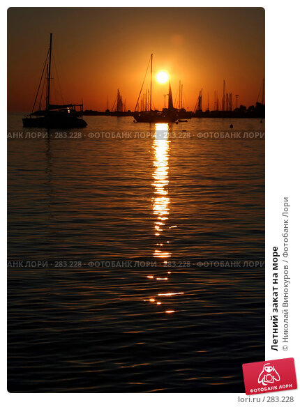 Купить «Летний закат на море», эксклюзивное фото № 283228, снято 18 марта 2018 г. (c) Николай Винокуров / Фотобанк Лори