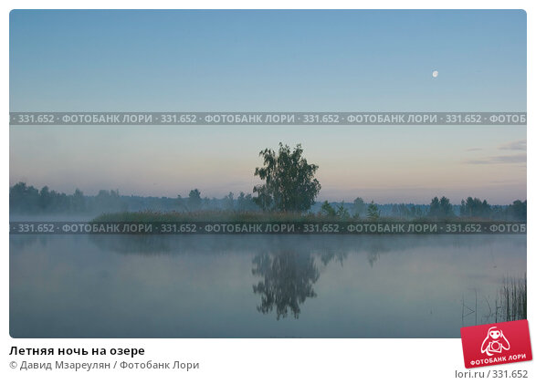 Летняя ночь на озере, фото № 331652, снято 22 июня 2008 г. (c) Давид Мзареулян / Фотобанк Лори