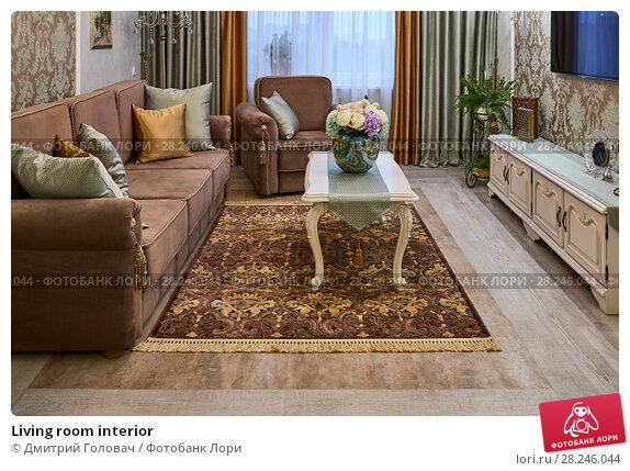 Купить «Living room interior», фото № 28246044, снято 9 февраля 2018 г. (c) Дмитрий Головач / Фотобанк Лори