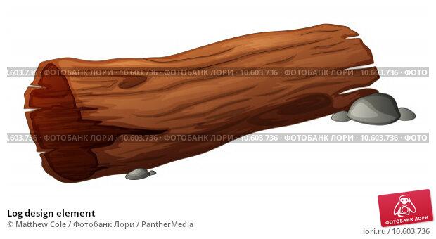 Log design element. Стоковая иллюстрация, иллюстратор Matthew Cole / PantherMedia / Фотобанк Лори