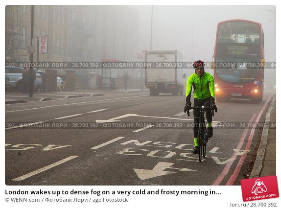 Купить «London wakes up to dense fog on a very cold and frosty morning in Finsbury Park, north London. Where: London, United Kingdom When: 28 Dec 2016 Credit: WENN.com», фото № 28700392, снято 28 декабря 2016 г. (c) age Fotostock / Фотобанк Лори