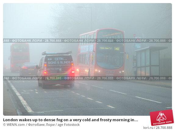Купить «London wakes up to dense fog on a very cold and frosty morning in Finsbury Park, north London. Where: London, United Kingdom When: 28 Dec 2016 Credit: WENN.com», фото № 28700888, снято 28 декабря 2016 г. (c) age Fotostock / Фотобанк Лори