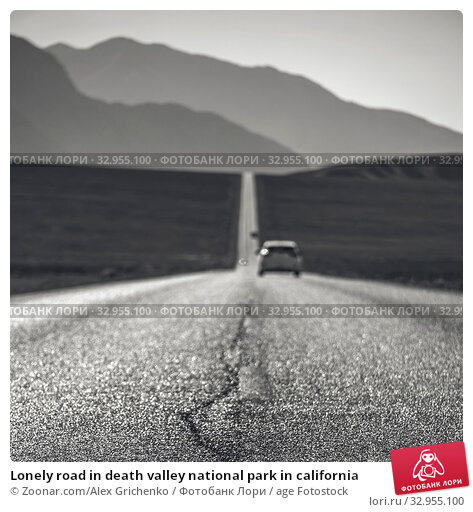 Lonely road in death valley national park in california. Стоковое фото, фотограф Zoonar.com/Alex Grichenko / age Fotostock / Фотобанк Лори