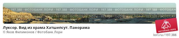 Луксор. Вид из храма Хатшепсут. Панорама, фото № 197388, снято 24 января 2017 г. (c) Яков Филимонов / Фотобанк Лори