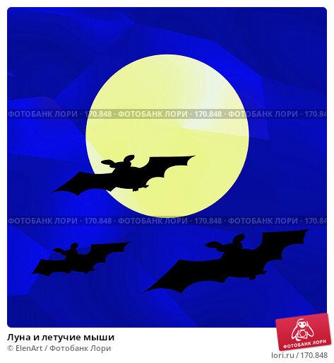 Луна и летучие мыши, иллюстрация № 170848 (c) ElenArt / Фотобанк Лори