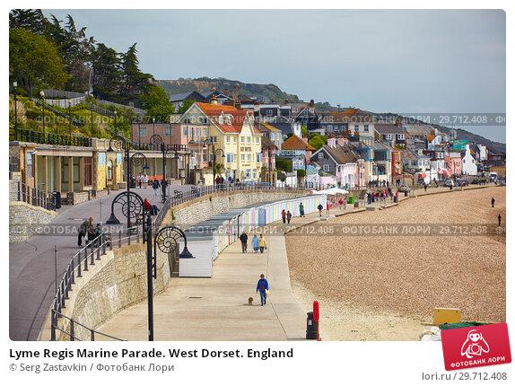 Купить «Lyme Regis Marine Parade. West Dorset. England», фото № 29712408, снято 12 мая 2009 г. (c) Serg Zastavkin / Фотобанк Лори