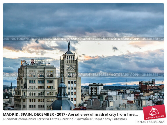 MADRID, SPAIN, DECEMBER - 2017 - Aerial view of madrid city from fine... Стоковое фото, фотограф Zoonar.com/Daniel Ferreira-Leites Ciccarino / easy Fotostock / Фотобанк Лори