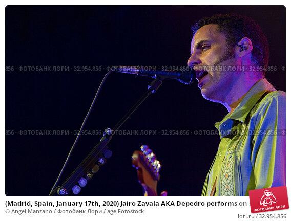 (Madrid, Spain, January 17th, 2020) Jairo Zavala AKA Depedro performs on stage at Inverfet in Sala La Riviera in Madrid (Photo by Angel Manzano) Редакционное фото, фотограф Angel Manzano / age Fotostock / Фотобанк Лори