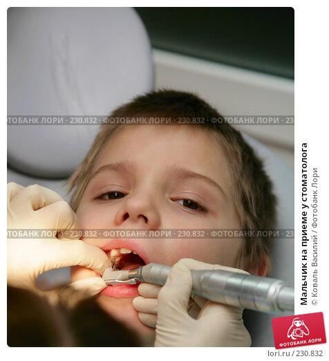 Купить «Мальчик на приеме у стоматолога», фото № 230832, снято 19 марта 2008 г. (c) Коваль Василий / Фотобанк Лори
