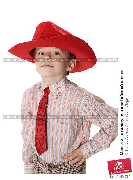 Купить «Мальчик в галстуке и ковбойской шляпе», фото № 140712, снято 1 декабря 2007 г. (c) Efanov Aleksey / Фотобанк Лори