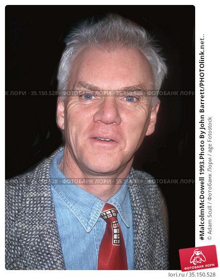 #MalcolmMcDowell 1993.Photo By John Barrett/PHOTOlink.net.. Редакционное фото, фотограф Adam Scull / age Fotostock / Фотобанк Лори