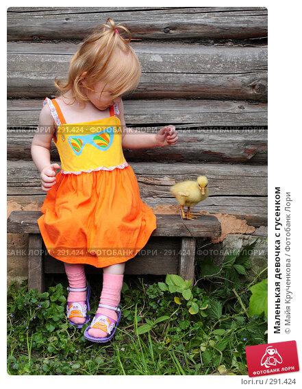Маленькая девочка с гусенком, фото № 291424, снято 17 мая 2008 г. (c) Майя Крученкова / Фотобанк Лори