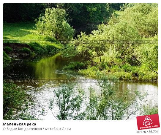 Маленькая река, фото № 56704, снято 20 февраля 2017 г. (c) Вадим Кондратенков / Фотобанк Лори