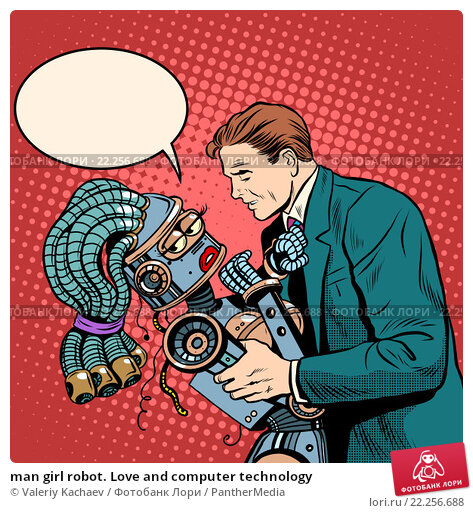 Купить «man girl robot. Love and computer technology», фото № 22256688, снято 23 февраля 2019 г. (c) PantherMedia / Фотобанк Лори