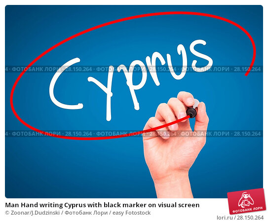 Купить «Man Hand writing Cyprus with black marker on visual screen», фото № 28150264, снято 21 июня 2018 г. (c) easy Fotostock / Фотобанк Лори