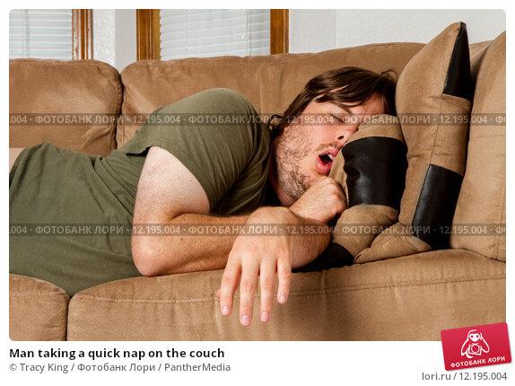 Купить «Man taking a quick nap on the couch», фото № 12195004, снято 22 февраля 2019 г. (c) PantherMedia / Фотобанк Лори