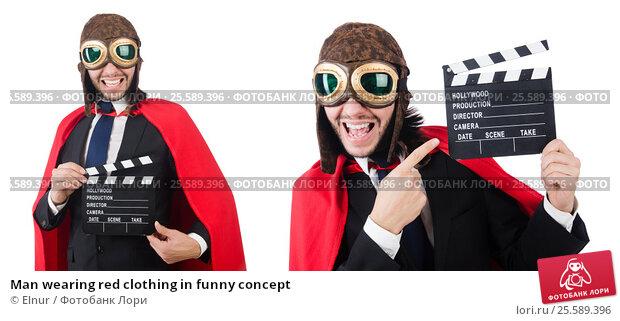 Купить «Man wearing red clothing in funny concept», фото № 25589396, снято 30 декабря 2013 г. (c) Elnur / Фотобанк Лори