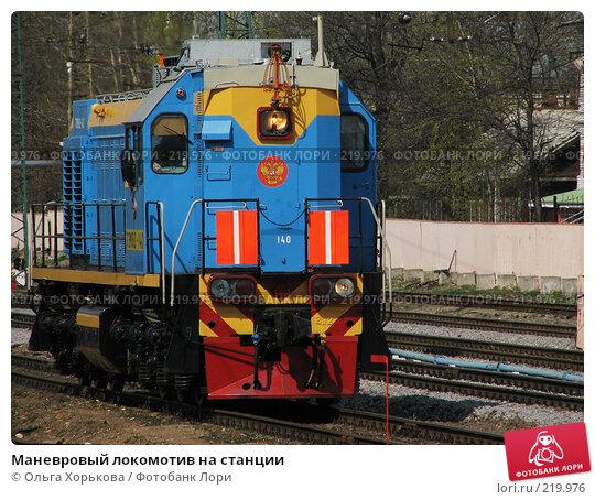 Маневровый локомотив на станции, фото № 219976, снято 1 мая 2007 г. (c) Ольга Хорькова / Фотобанк Лори