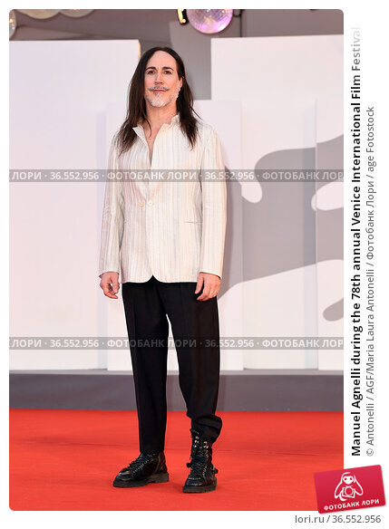 Manuel Agnelli during the 78th annual Venice International Film Festival... Редакционное фото, фотограф Antonelli / AGF/Maria Laura Antonelli / age Fotostock / Фотобанк Лори