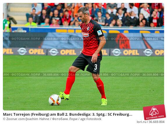 Marc Torrejon (Freiburg) am Ball 2. Bundesliga: 3. Sptg.: SC Freiburg... Стоковое фото, фотограф Zoonar.com/Joachim Hahne / age Fotostock / Фотобанк Лори