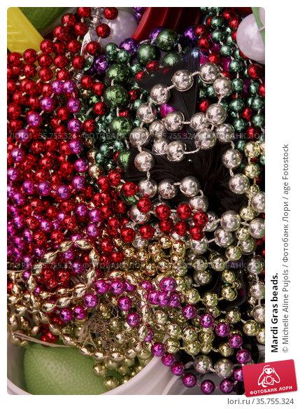 Mardi Gras beads. Стоковое фото, фотограф Michelle Aline Pujols / age Fotostock / Фотобанк Лори