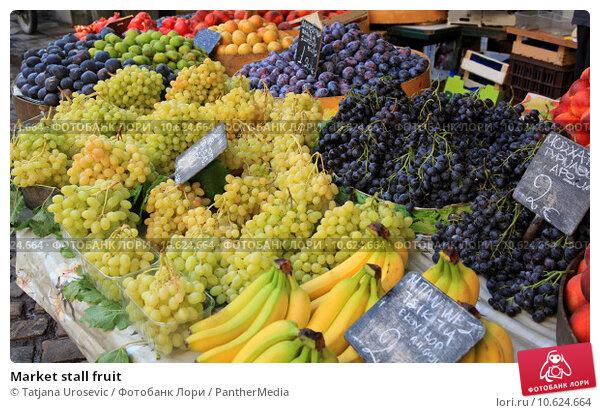 Market stall fruit. Стоковое фото, фотограф Tatjana Urosevic / PantherMedia / Фотобанк Лори