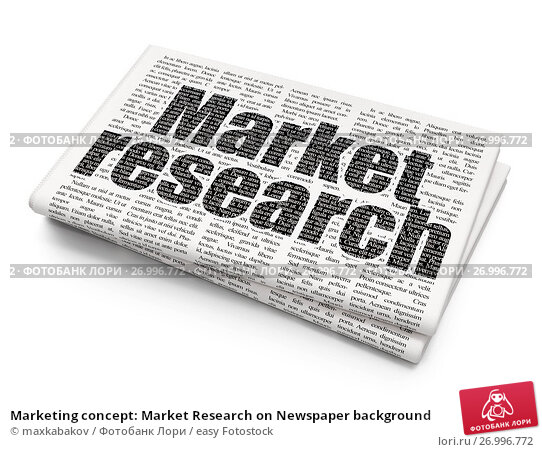 newspaper article marketing research
