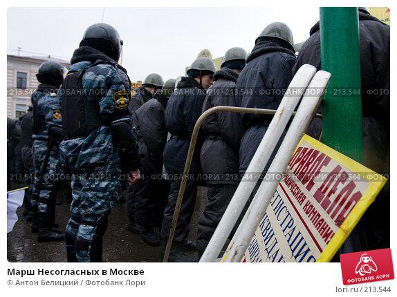Марш Несогласных в Москве, фото № 213544, снято 3 марта 2008 г. (c) Антон Белицкий / Фотобанк Лори
