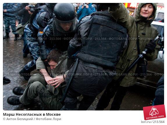 Марш Несогласных в Москве, фото № 213564, снято 3 марта 2008 г. (c) Антон Белицкий / Фотобанк Лори