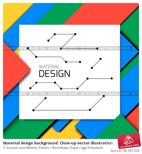 Material design background. Close-up vector illustration. Стоковое фото, фотограф Zoonar.com/Maxim Pavlov / age Fotostock / Фотобанк Лори