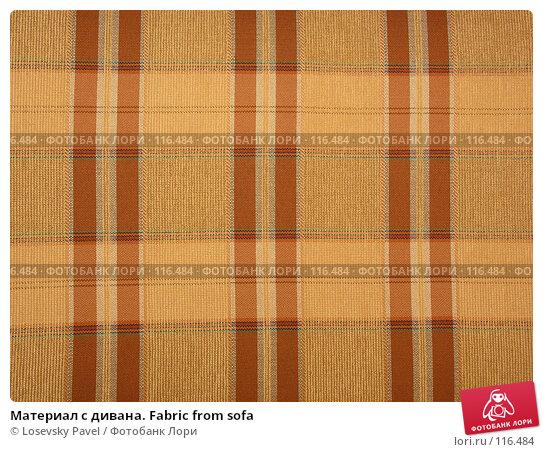 Материал с дивана. Fabric from sofa, фото № 116484, снято 8 декабря 2005 г. (c) Losevsky Pavel / Фотобанк Лори