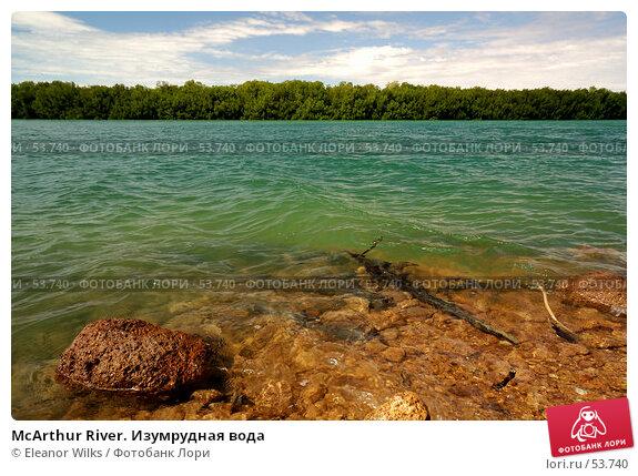 McArthur River. Изумрудная вода, фото № 53740, снято 4 июля 2007 г. (c) Eleanor Wilks / Фотобанк Лори