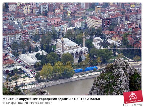 Мечеть в окружении городских зданий в центре Амасья, фото № 22268, снято 8 ноября 2006 г. (c) Валерий Шанин / Фотобанк Лори