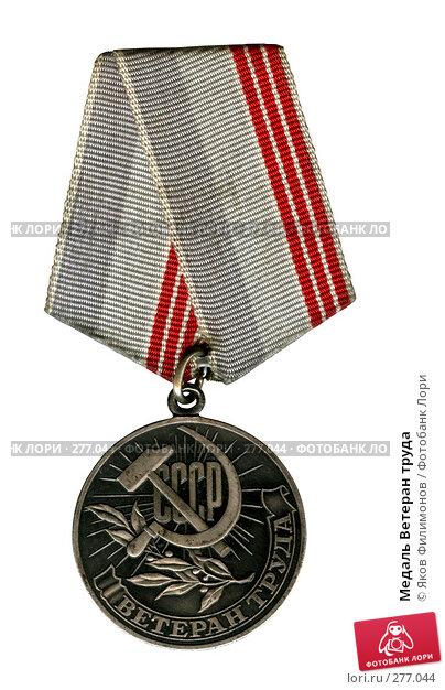 Медаль Ветеран труда, фото № 277044, снято 20 февраля 2017 г. (c) Яков Филимонов / Фотобанк Лори