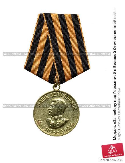 Медаль «За победу над Германией в Великой Отечественной войне 1941—1945 гг.», фото № 247236, снято 22 января 2017 г. (c) Igor Lijashkov / Фотобанк Лори