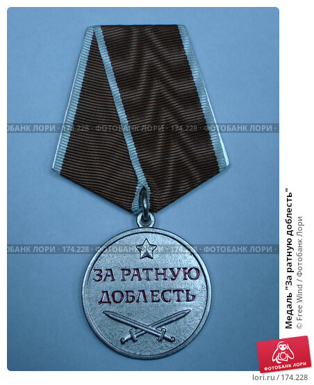 "Медаль ""За ратную доблесть"", фото № 174228, снято 3 апреля 2007 г. (c) Free Wind / Фотобанк Лори"
