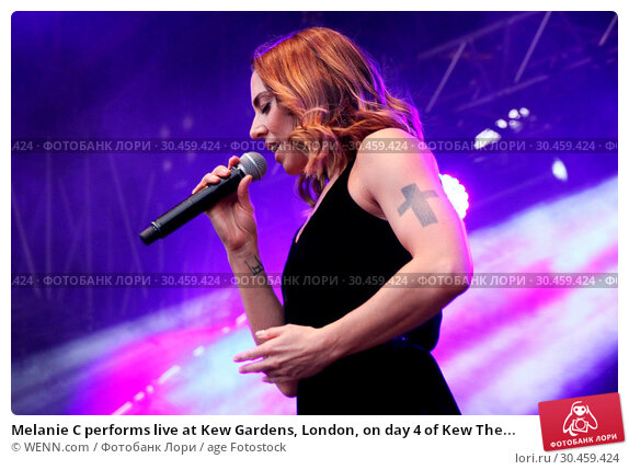 Melanie C performs live at Kew Gardens, London, on day 4 of Kew The... (2017 год). Редакционное фото, фотограф WENN.com / age Fotostock / Фотобанк Лори