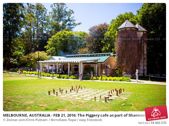 MELBOURNE, AUSTRALIA - FEB 21, 2016: The Piggery cafe as part of Shannon... Стоковое фото, фотограф Zoonar.com/Chris Putnam / easy Fotostock / Фотобанк Лори