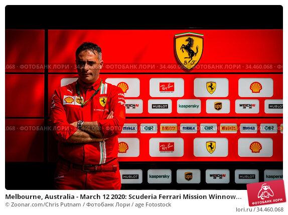 Melbourne, Australia - March 12 2020: Scuderia Ferrari Mission Winnow... Стоковое фото, фотограф Zoonar.com/Chris Putnam / age Fotostock / Фотобанк Лори