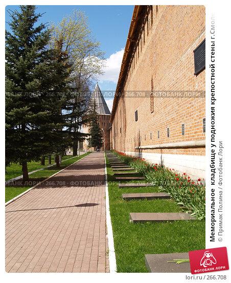Мемориальное  кладбище у подножия крепостной стены г.Смоленск, фото № 266708, снято 26 апреля 2008 г. (c) Примак Полина / Фотобанк Лори