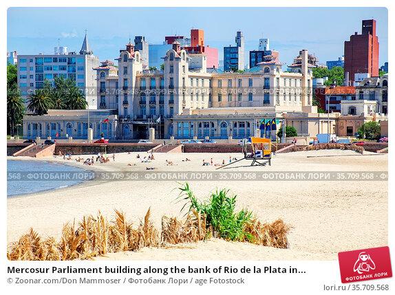 Mercosur Parliament building along the bank of Rio de la Plata in... Стоковое фото, фотограф Zoonar.com/Don Mammoser / age Fotostock / Фотобанк Лори