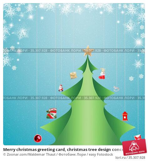 Merry christmas greeting card, christmas tree design concept. Стоковое фото, фотограф Zoonar.com/Waldemar Thaut / easy Fotostock / Фотобанк Лори