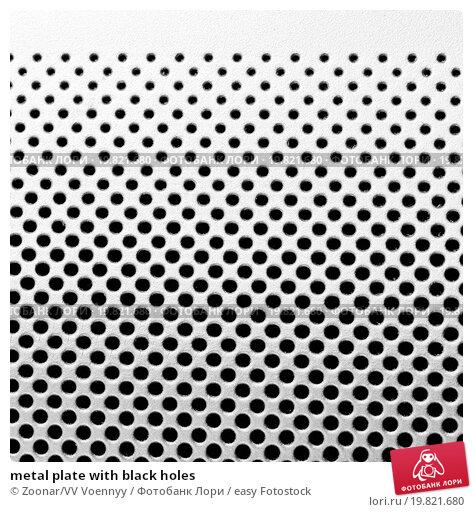 Купить «metal plate with black holes», фото № 19821680, снято 24 июля 2019 г. (c) easy Fotostock / Фотобанк Лори